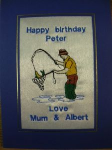 HAPPY BIRTHDAY - Fisher Man and Net - Cards